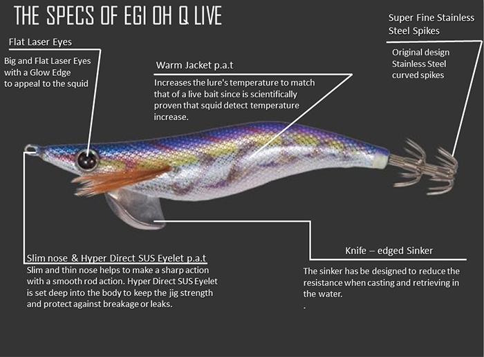 Rainbow Base Warm Jacket Squid Jig Yamashita EGI OH Q LIVE #2.5 Basic S09//SON