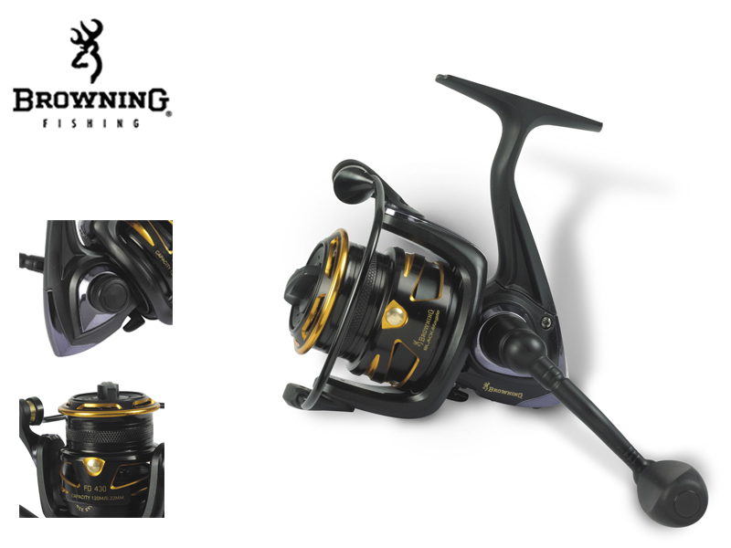 Browning Black Magic® FD 420(m / mm: 155 / 0,16, Gear Ratio: 5,1:1, Retrieve: 59 cm, BB: 4, Drag F.: 4,5 kg / 10 lbs, W: 260g)