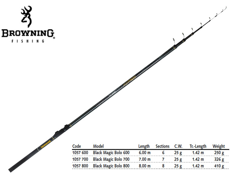 Browning Black Magic® Bolo (Length: 700mt, CW: 25g, Weight: 326gr)