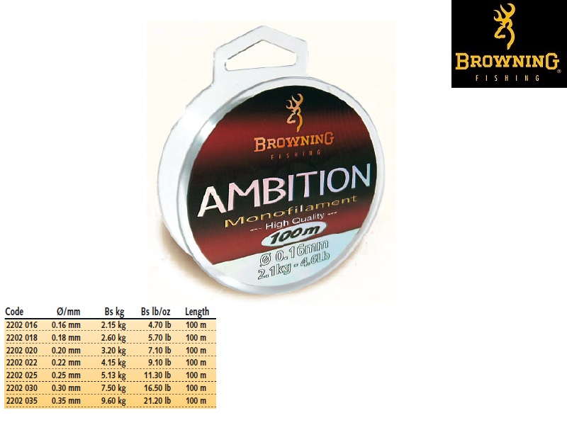 Browning Ambition Line (Size:0.20mm, Length: 100m, Pack: 1)