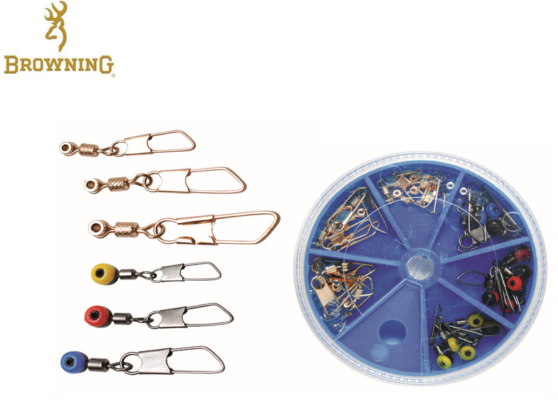 Browning Match/Feeder Swivels Assortment (30pcs, 5pcs each)