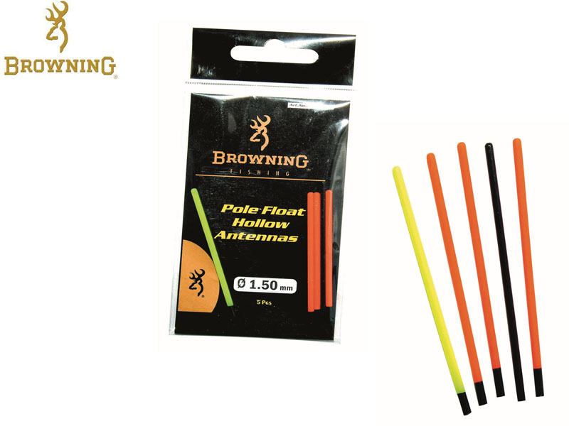 Browning Pole floats with hollow tips (Length: 55mm, ⌀: 2.0mm, 5pcs)