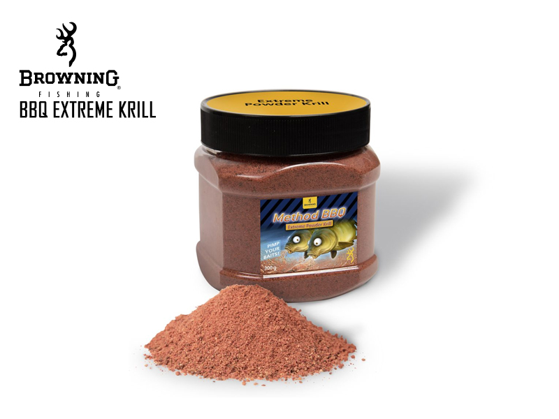 Browning BBQ Extreme Krill Method Mix (Colour: Red, Flavour: Krill, Weight: 300gr)