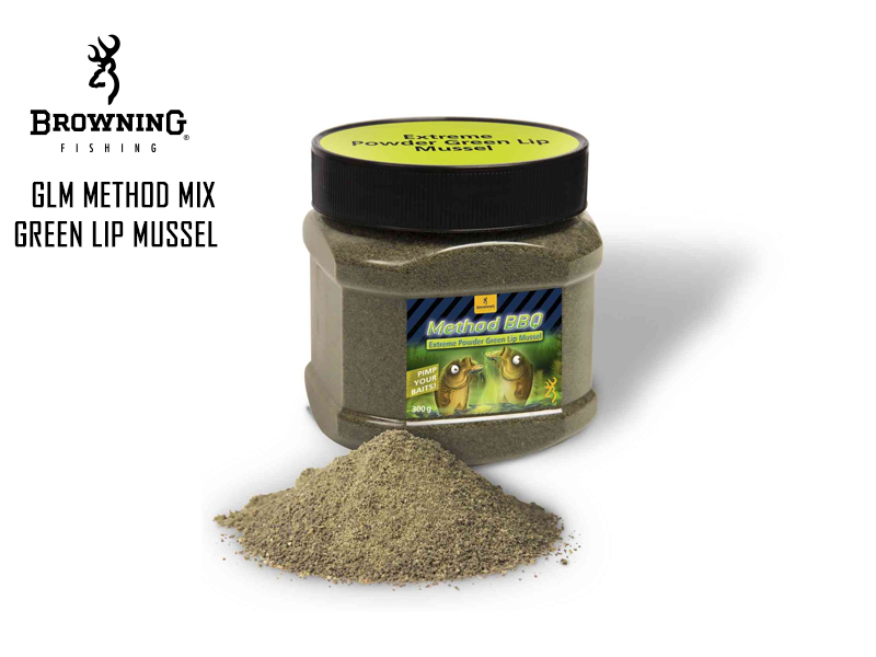 Browning GLM Method Mix Green Lip Mussel (Colour: Green, Flavour: Mussel, Weight: 300gr)