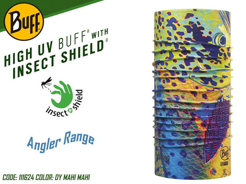 BUFF Angler Range High UV with Insect Shield (Color: 111624 DY Mahi Mahi)