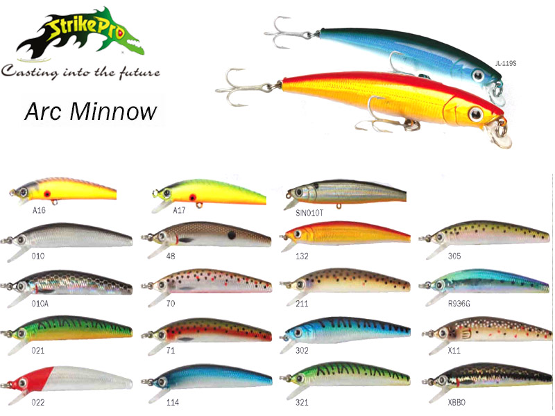 Strike Pro Arc Minnow (Model: JL-119(S), Color:114, Body Length: 7.5cm, Weight: 6gr)
