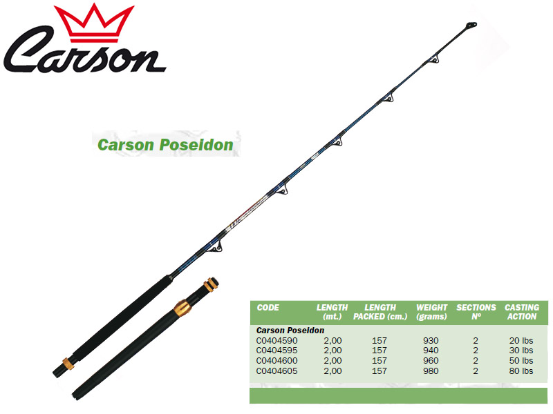 Carson Poseidon Trolling Rods (2.00m, Action: 20lbs)