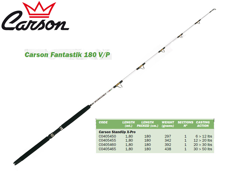 Carson Fantastik 180 V/P Stand-Up Rods (1.80m, Action: 50-80lbs)