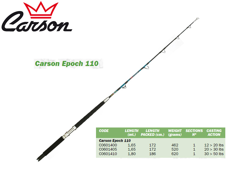 Carson Epoch 110 Trolling Rods (1.65m, Action: 20-30lbs)