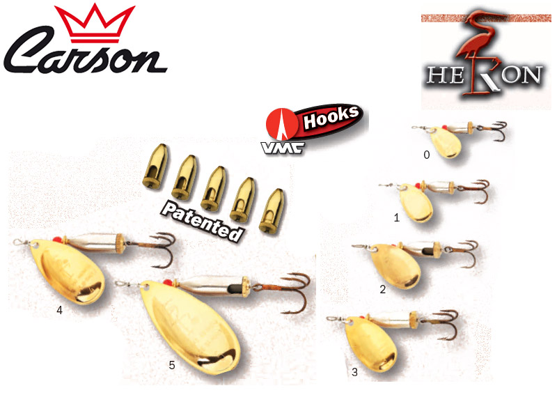 Heron Crack Spoons (Size: 1, Weight: 3.5g, Color:Gold, 1pcs)