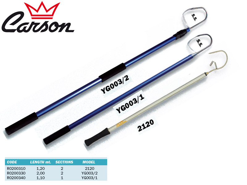 Carson Telescopic Gaff YG003/2 (Length: 2.00m, Sections: 2)