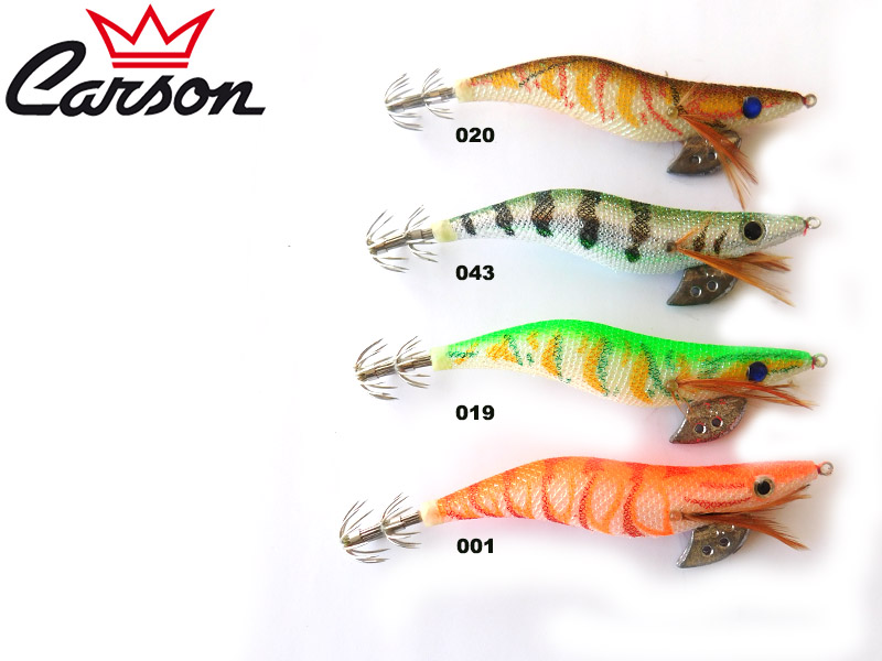 Carson Yashino MF-8001N Squid Lures (Size: 3.0, Color: 043)