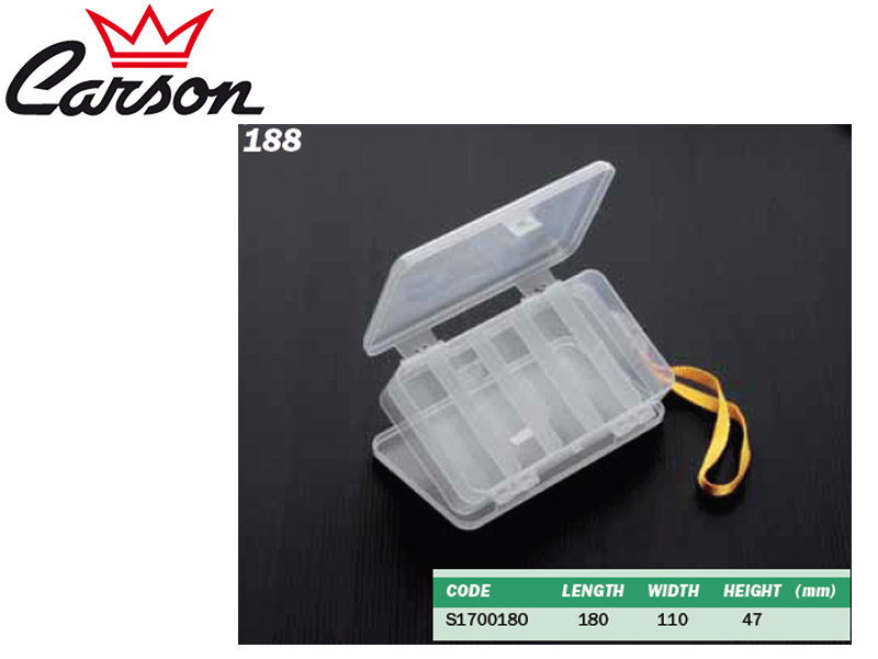 Carson 188 Tackle Box (L x W x H: 180 x 110x 47mm)