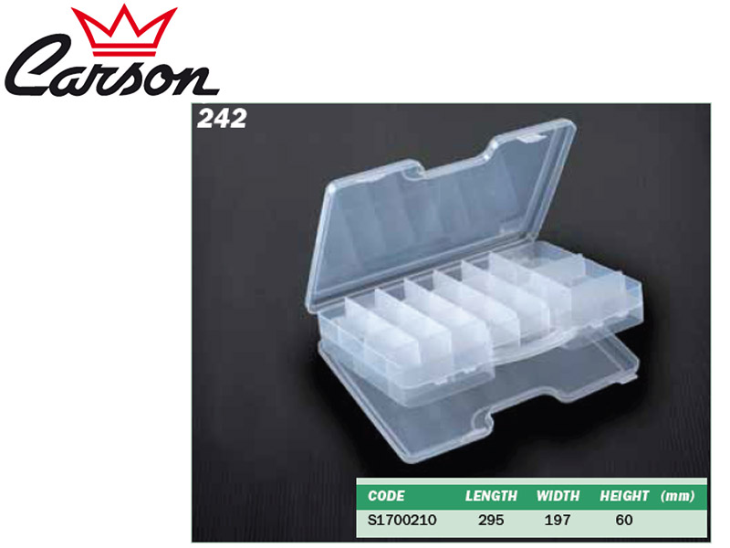 Carson 242 Tackle Box (L x W x H: 295 x 197 x 60 mm)