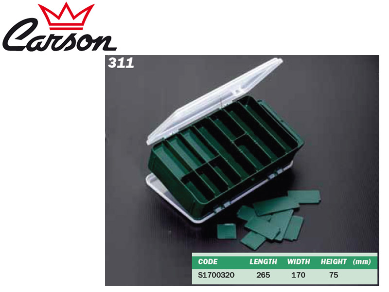 Carson 311 Tackle Box (L x W x H: 265 x 170 x 75 mm)