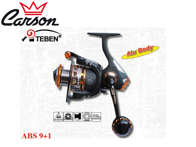 Carson Teben 300 Reel (Model: ABS, Size: 300, BB: 10, Spool (mm/mt): 030/180,Weight: 285gr, Ratio:5,2:1)