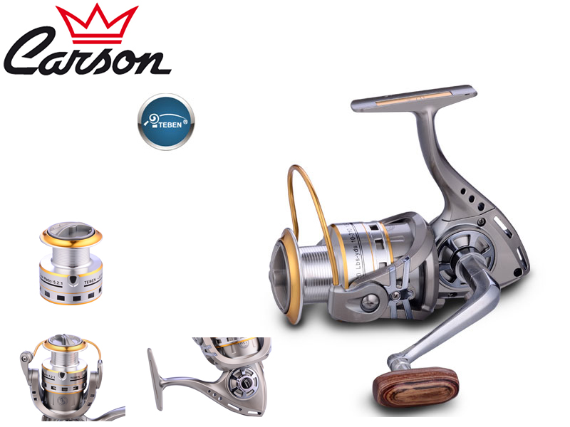 Carson Teben Jet-300 Reel (Model: JET, Size: 300, Capacity (mm/mt): 0.25/270, BB: 10, Weight: 281g, Ratio: 5,2:1)