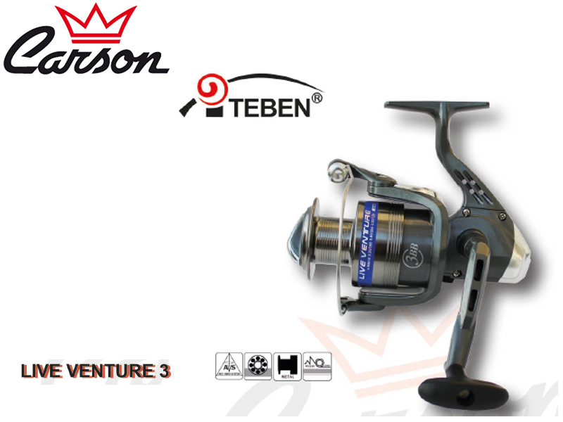 Carson Teben LV-300 Reel (Model: LV3+1, Size: 300, Capacity (mm/mt): 0.25/270, BB: 4, Weight: 270g, Ratio: 5,2:1)