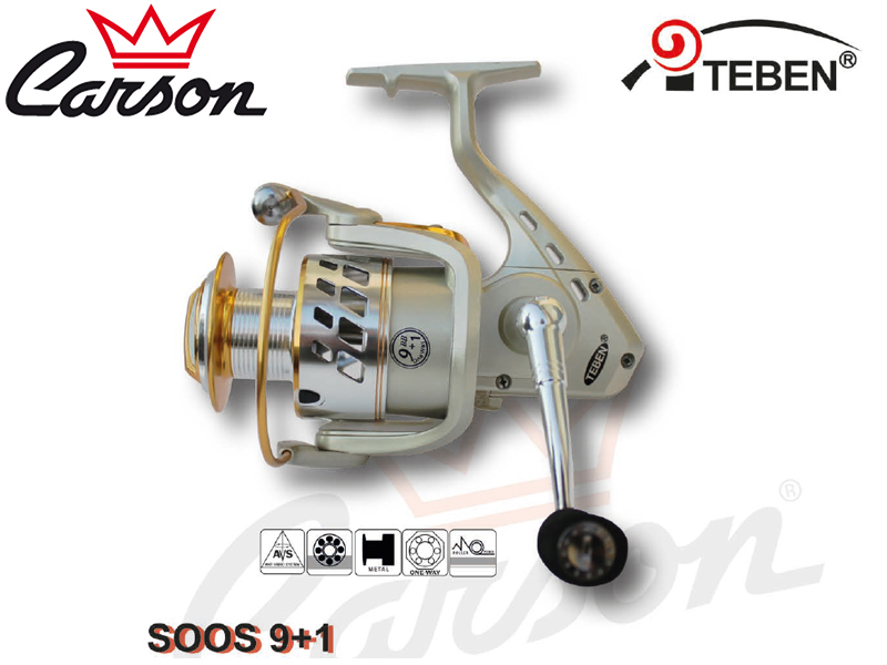 arson Teben SOOS 400 Reel (Model: SOOS, Size: 400, Capacity (mm/mt): 0.36/160, BB: 10, Weight: 365g, Ratio: 4,5:1)