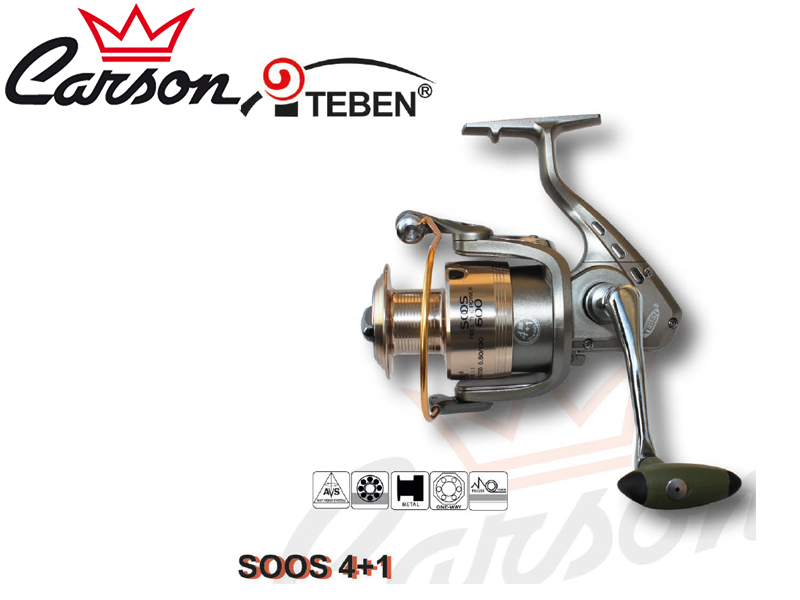 Carson Teben SOOS 300 Reel (Model: SOOS, Size: 300, Capacity (mm/mt): 0.25/270, BB: 5, Weight: 270g, Ratio: 5,2:1)
