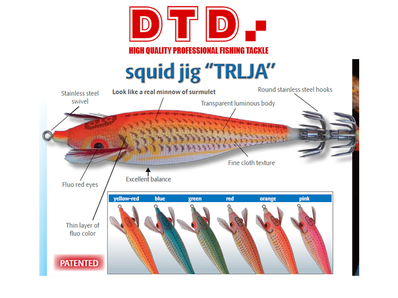 DTD Squid Jig Trlja (Size:2.5, Colour: Orange)