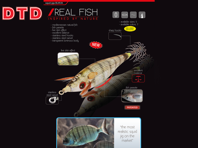 DTD Squid Real Fish Bukva (Size:3.0, Color: Sugarello Honey)