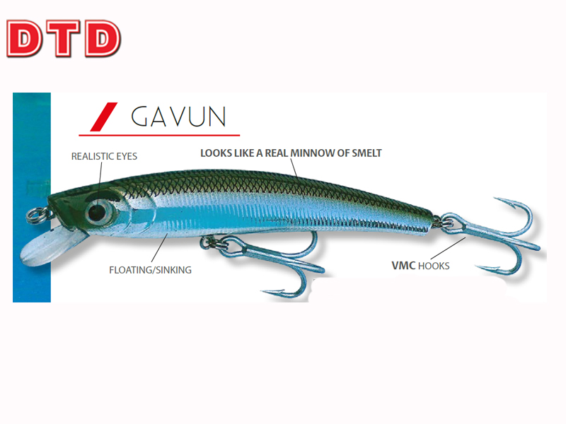 DTD Minnow Gavun 90F (Size: 90mm, Weight: 7,8gr, Color: Natural Smelt)