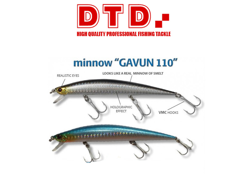 DTD Minnow Gavun (110mm, Colour: Blue)
