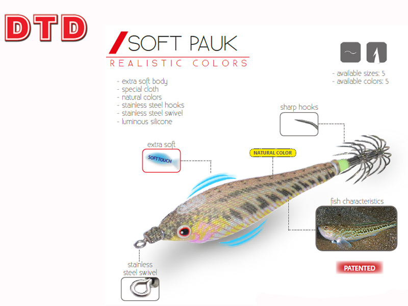 DTD Squid Jigs Soft Pauk (Size: 2.5, Color: Green)