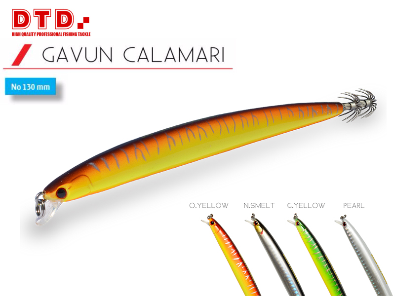 DTD Trolling Squid Jig Gavun Calamari (Size:130mm, Colour: Natural Smelt)