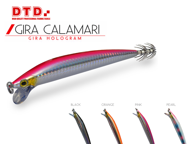 DTD Trolling Squid Jig Gira Calamari (Size: 130mm, Color: Pink)