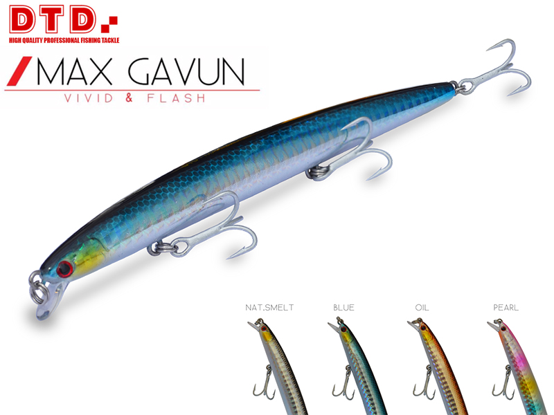 DTD Minnow Max Gavun (130mm, Colour: Blue)