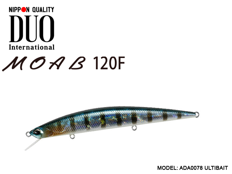 DUO MOAB 120F Lures (Length: 120mm, Weight: 13g, Model: ADA0078 ULTIBAIT)