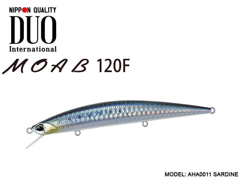 DUO MOAB 120F Lures (Length: 120mm, Weight: 13g, Model: AHA0011 SARDINE )