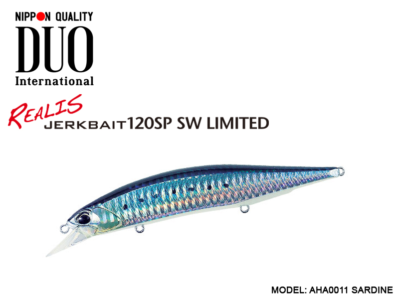 DUO Realis Jerkbait 120SP SW Limited (Length: 120mm, Weight: 18.2gr, Color: AHA0011 Sardine)