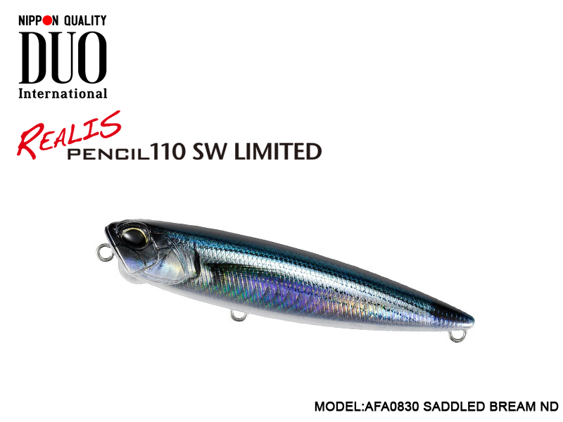 Duo Realis Pencil 110 SW Limited (Length: 110mm, Weight: 20.5gr, Color: AFA0830 Saddled Bream ND)