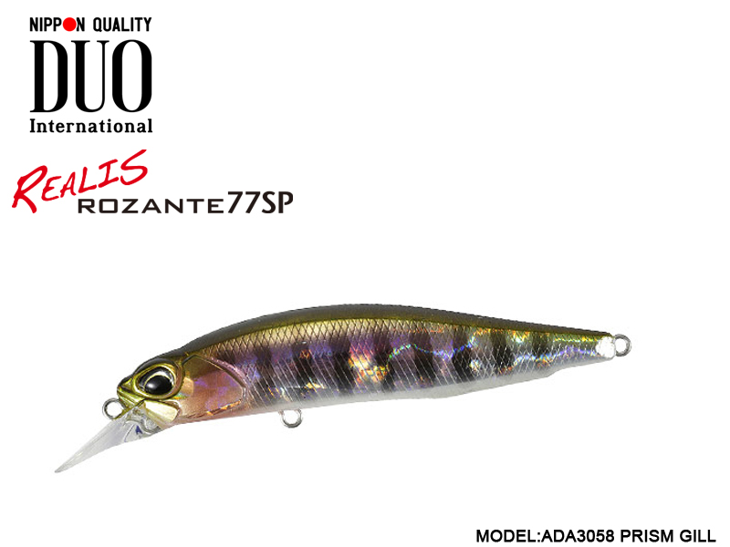 DUO REALIS ROZANTE 77SP (Length: 77mm, Weight: 8.4g, Model: ADA3058 Prism Gill)
