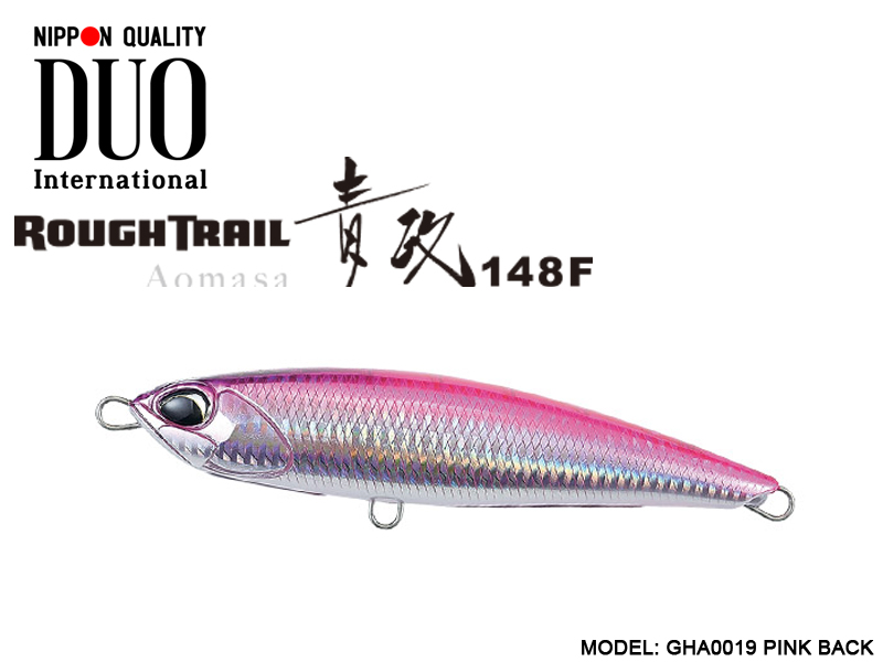 Duo Rough Tail Aomasa 148F (Length: 148mm, Weight: 38gr, Type: Floating, Colour:GHA0019 Pink Back)
