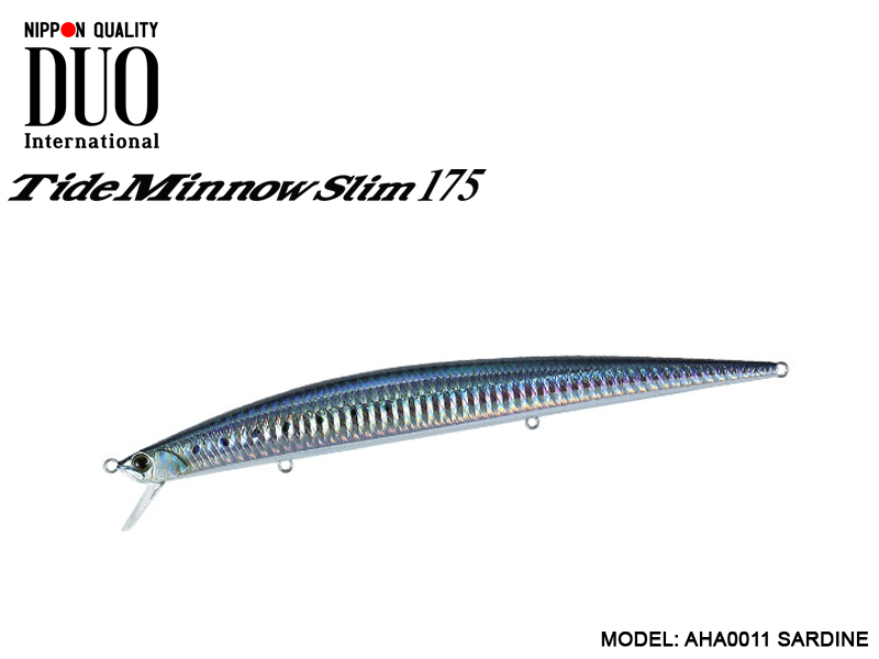 DUO Tide-Minnow Slim 175 Lures (Length: 175mm, Weight: 27g, Color: AHA0011 Sardine)