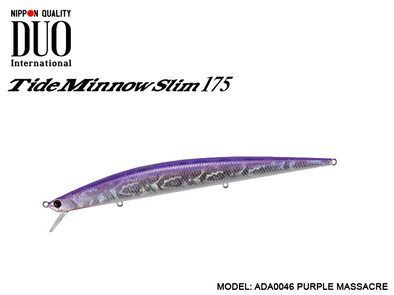 DUO Tide-Minnow Slim 175 Lures (Length: 175mm, Weight: 27g, Color: ADA0046 Purple Massacre)