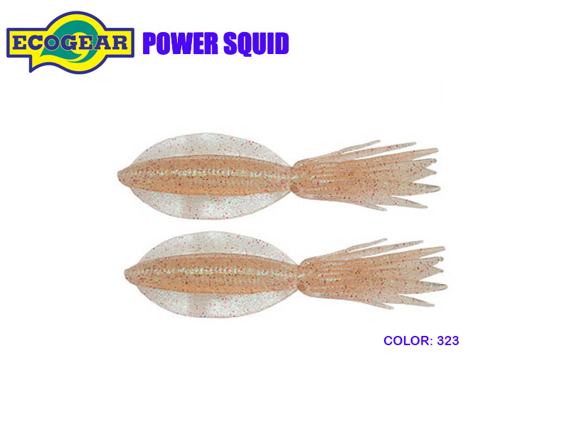 "Ecogear Power Squid (Size: 7""/190mm, Color: 323, Pack: 2pcs)"