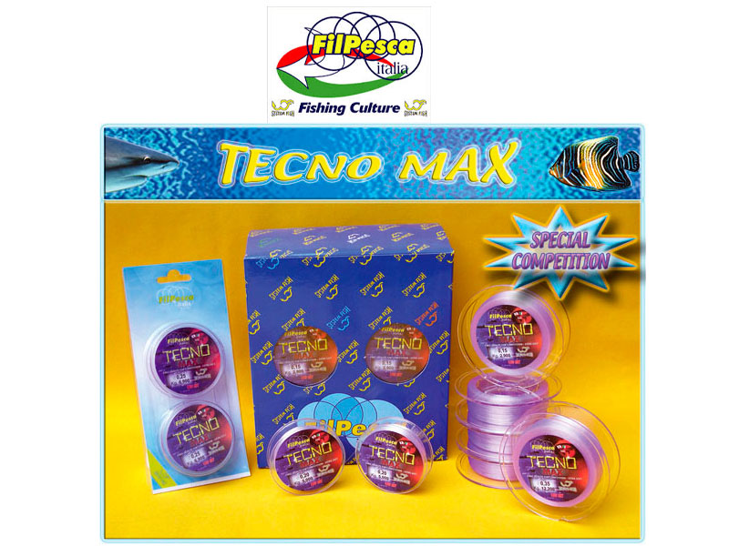Filpesca Tecno Max Lines (Size: 0.28mm, 9.50kg, Length: 150x2 connected)