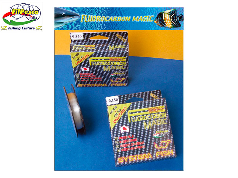Filpesca Fluorocarbon Magic (Size: 0.190mm, 3.900kg, 8.59lb, Length: 130m)