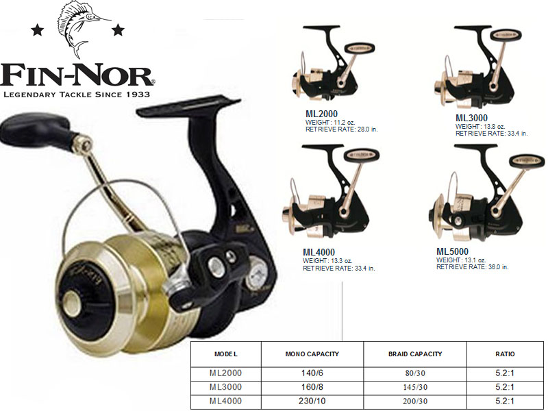 Fin-Nor Mega-Lite Spinning Reel ML2000 (6BB)