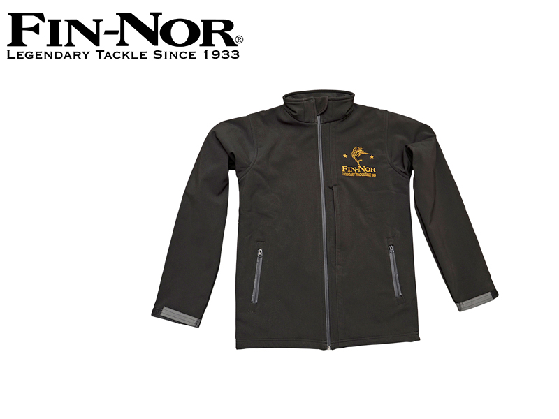 Fin-Nor Soft Shell Jacket (Size: L, Model: Black, Breathable, 100% polyester)