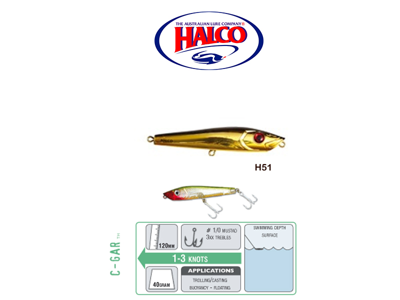 Halco C-GAR (Size: 120mm, Weight: 40g, Color: H51)
