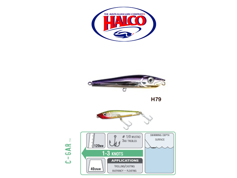 Halco C-GAR (Size: 120mm, Weight: 40g, Color: H79)