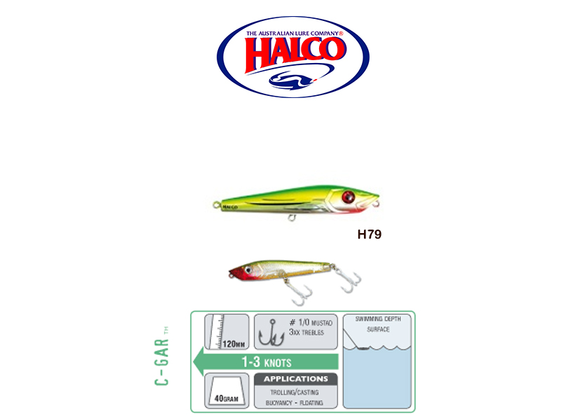 Halco C-GAR (Size: 120mm, Weight: 40g, Color: H81)