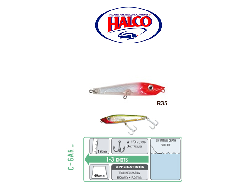 Halco C-GAR (Size: 120mm, Weight: 40g, Color: R35)