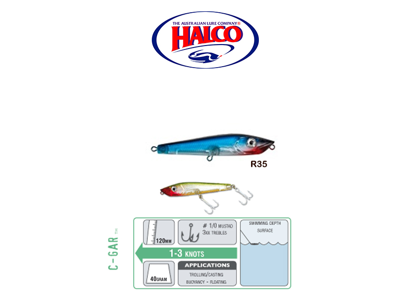 Halco C-GAR (Size: 120mm, Weight: 40g, Color: R38)